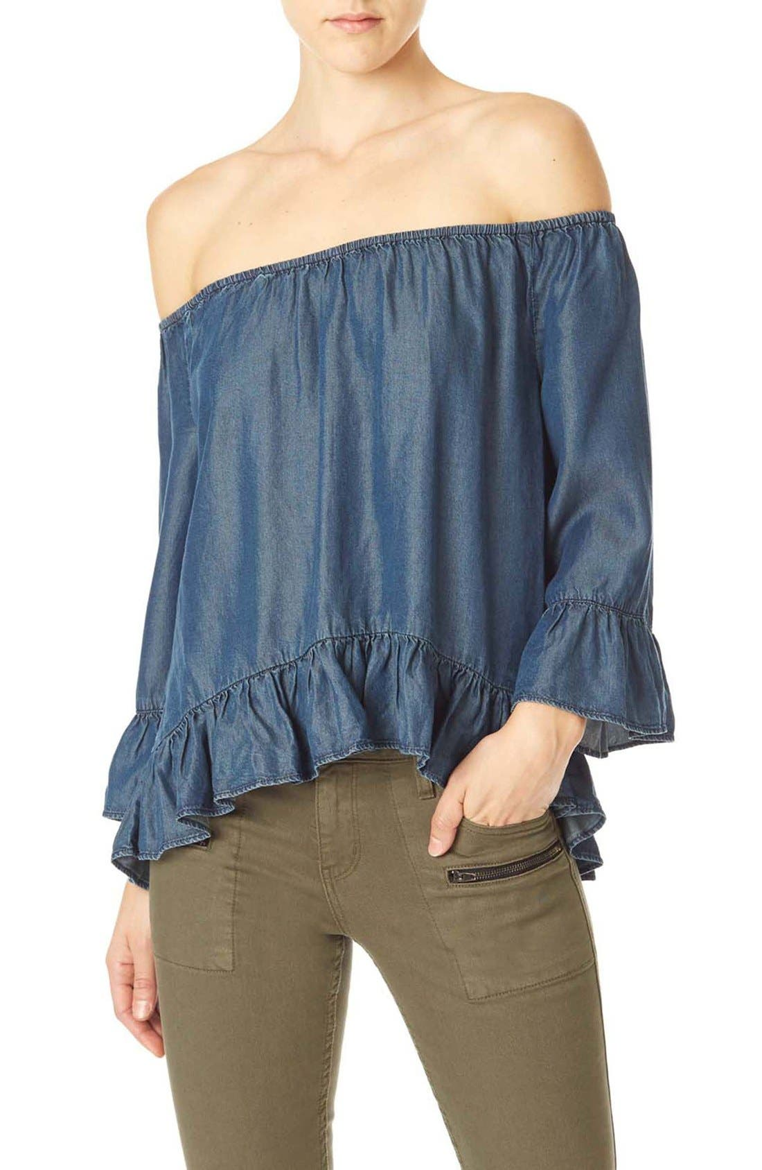 Main Image - Sanctuary 'Julia' Ruffled Peasant Top