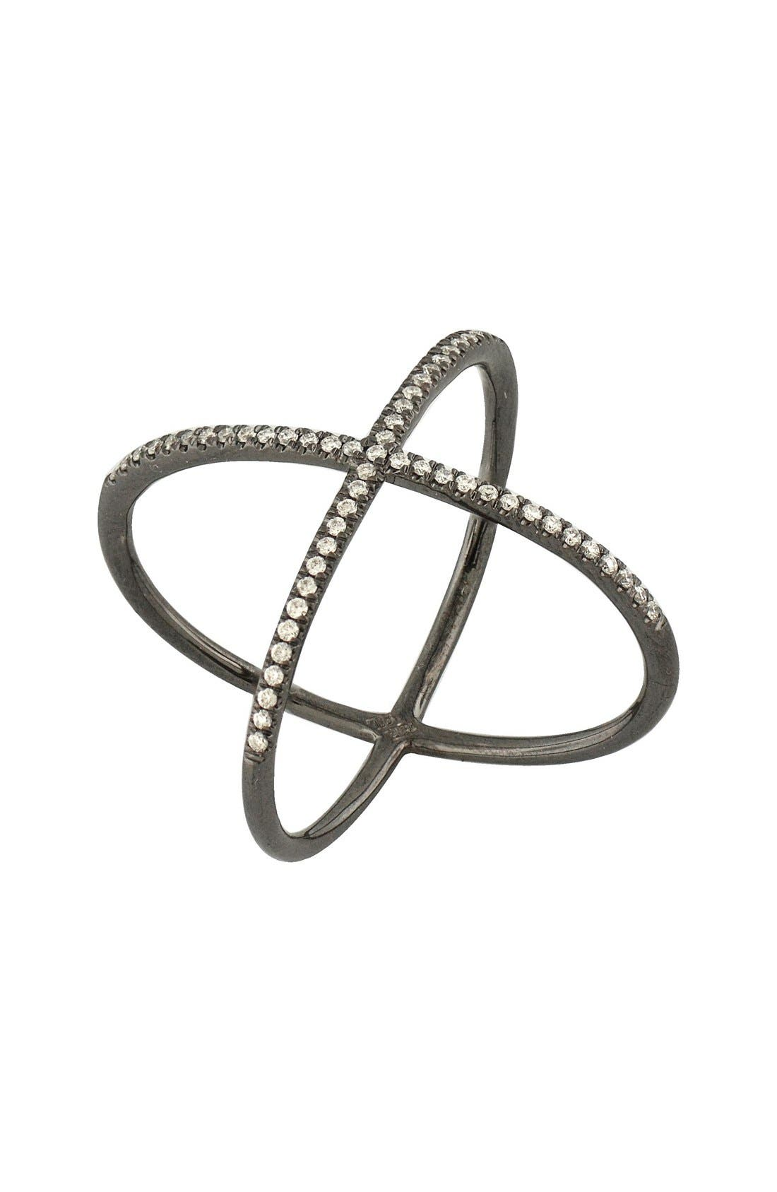 Bony Levy Crossover Diamond Ring (Nordstrom Exclusive)
