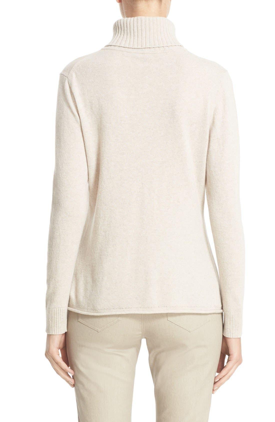 Alternate Image 2  - Lafayette 148 New York Wool & Cashmere Turtleneck Sweater