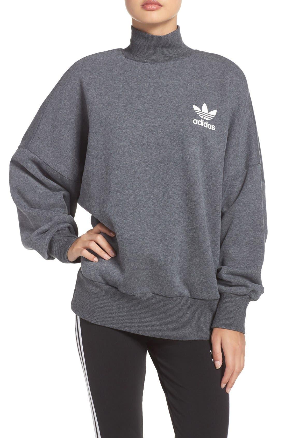 Alternate Image 1 Selected - adidas Originals Mock Neck Sweatshirt