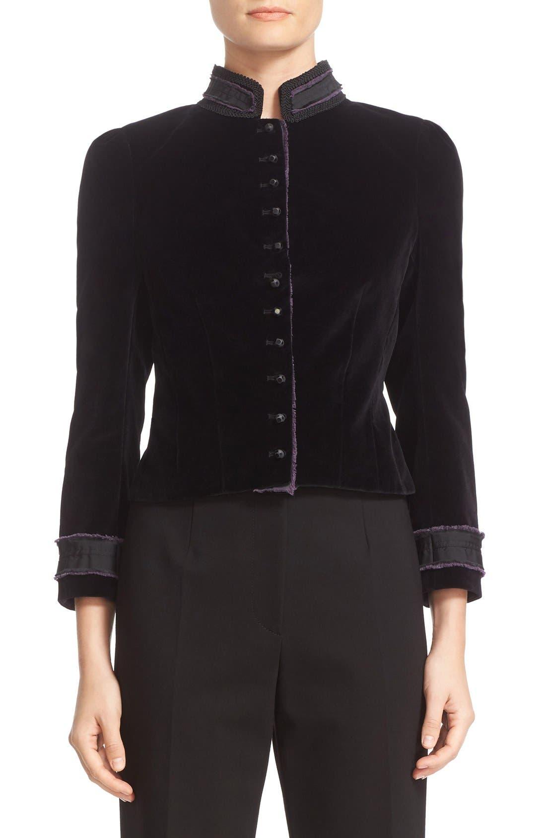 Alternate Image 1 Selected - MARC JACOBS Cotton Velvet Victorian Jacket