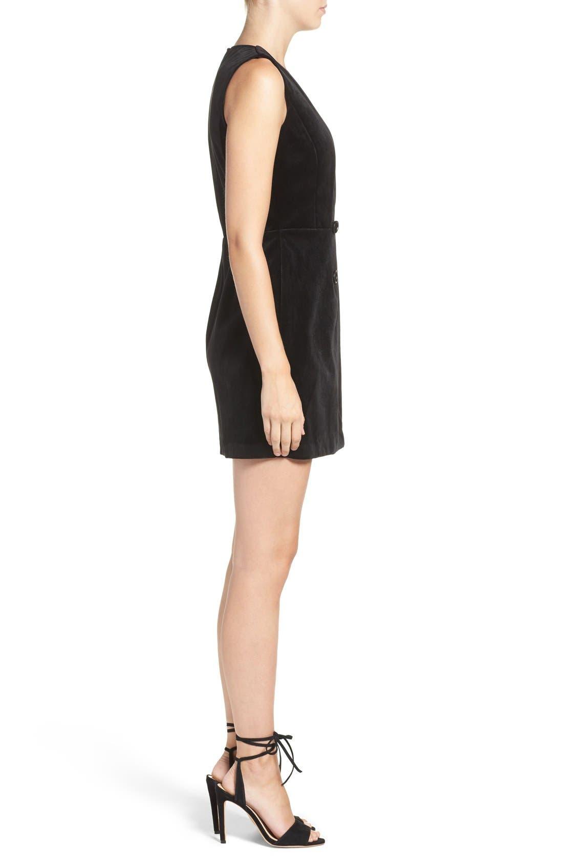 Alternate Image 4  - Greylin Velvet Tuxedo Dress