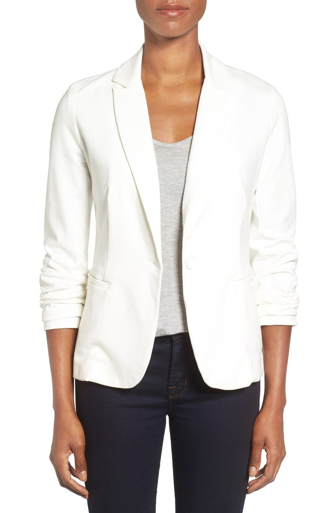 Alternate Image 1 Selected - Olivia Moon Knit Blazer (Regular & Petite)