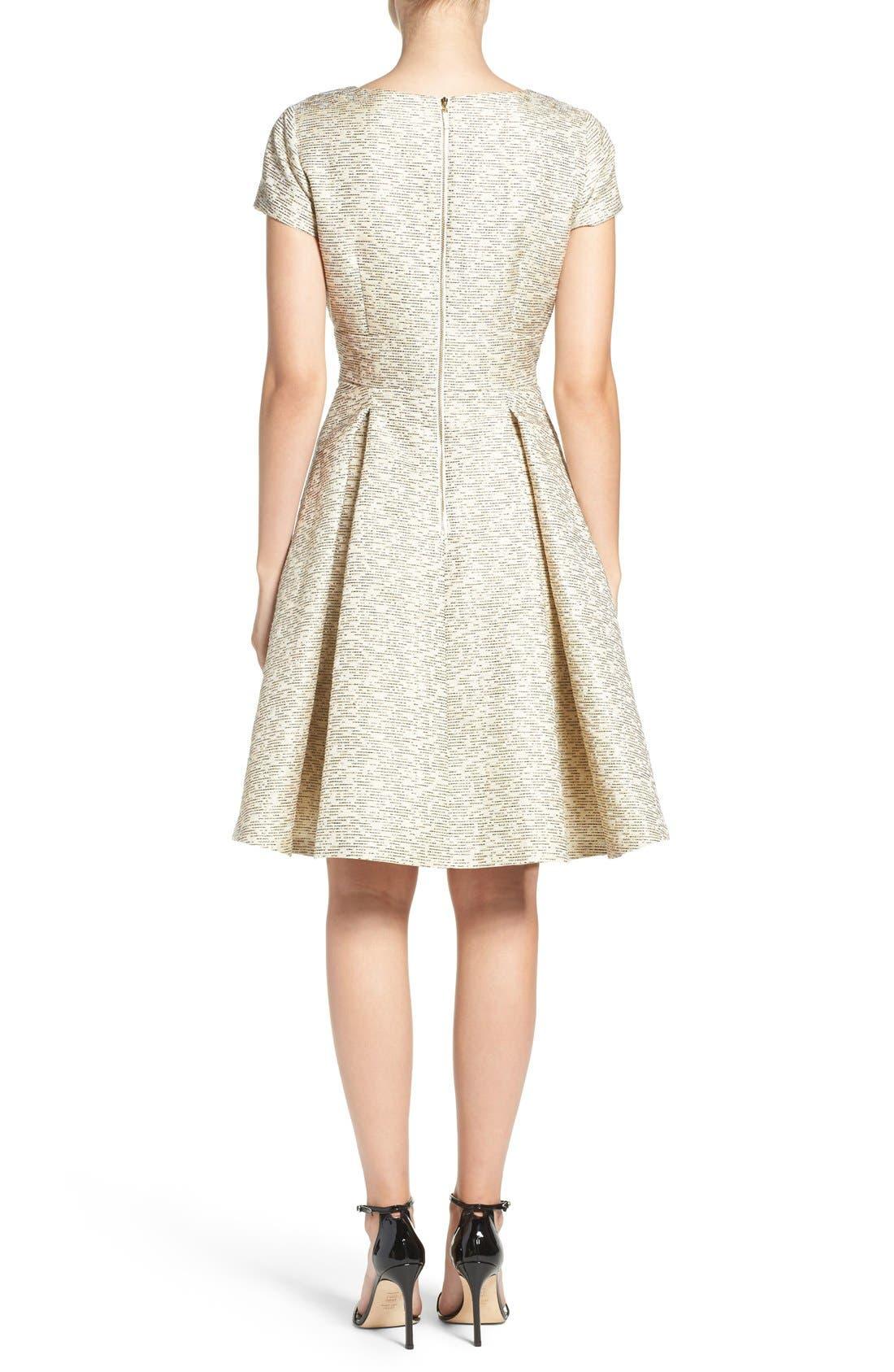 Alternate Image 2  - Eliza J Metallic Jacquard Fit & Flare Dress
