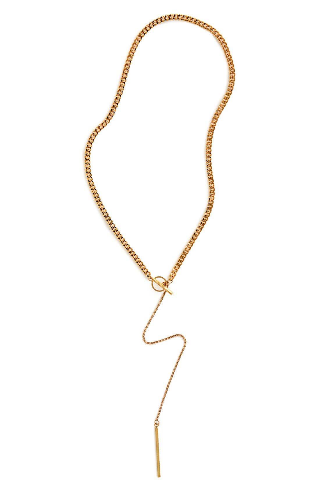 Alternate Image 2  - Sole Society Curb Chain Y-Necklace