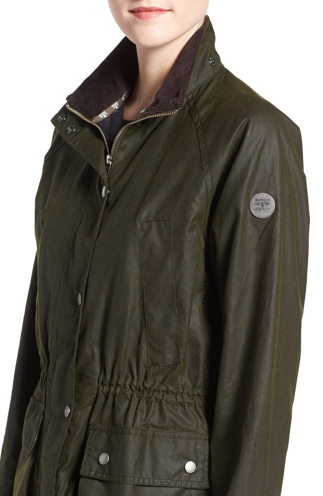 Alternate Image 4  - Barbour Brae Waxed Cotton Parka