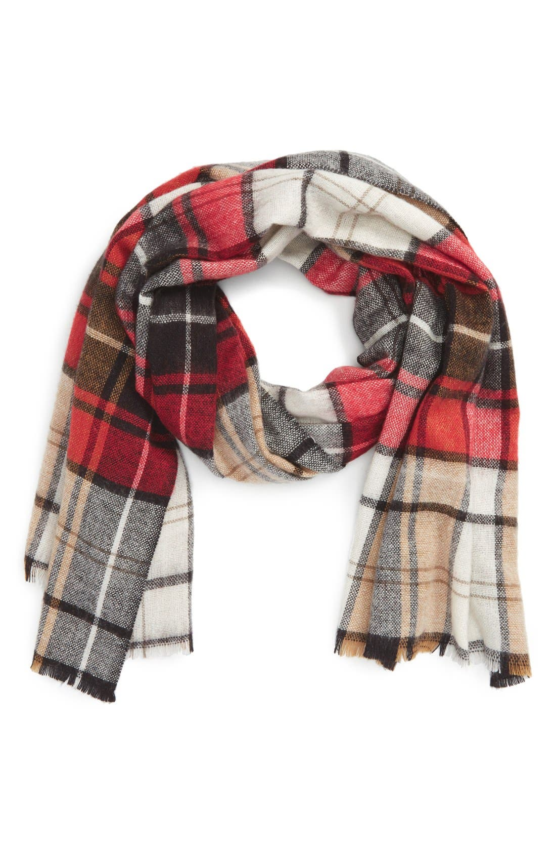 Alternate Image 1 Selected - Sole Society Plaid Scarf