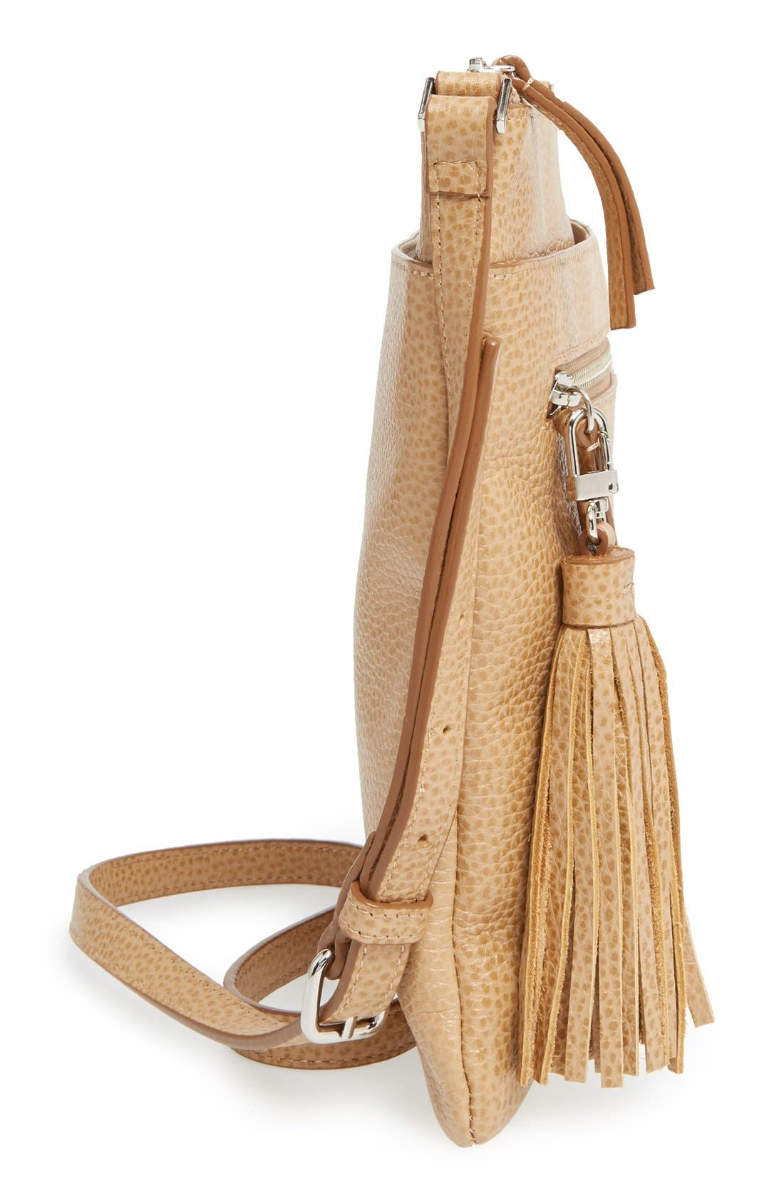 Alternate Image 5  - Halogen® Tasseled Leather Crossbody Bag