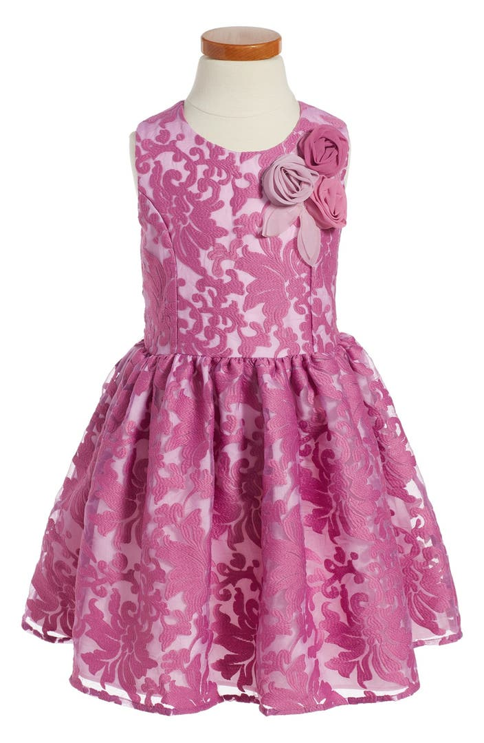 Pippa julie floral embroidered organza dress toddler