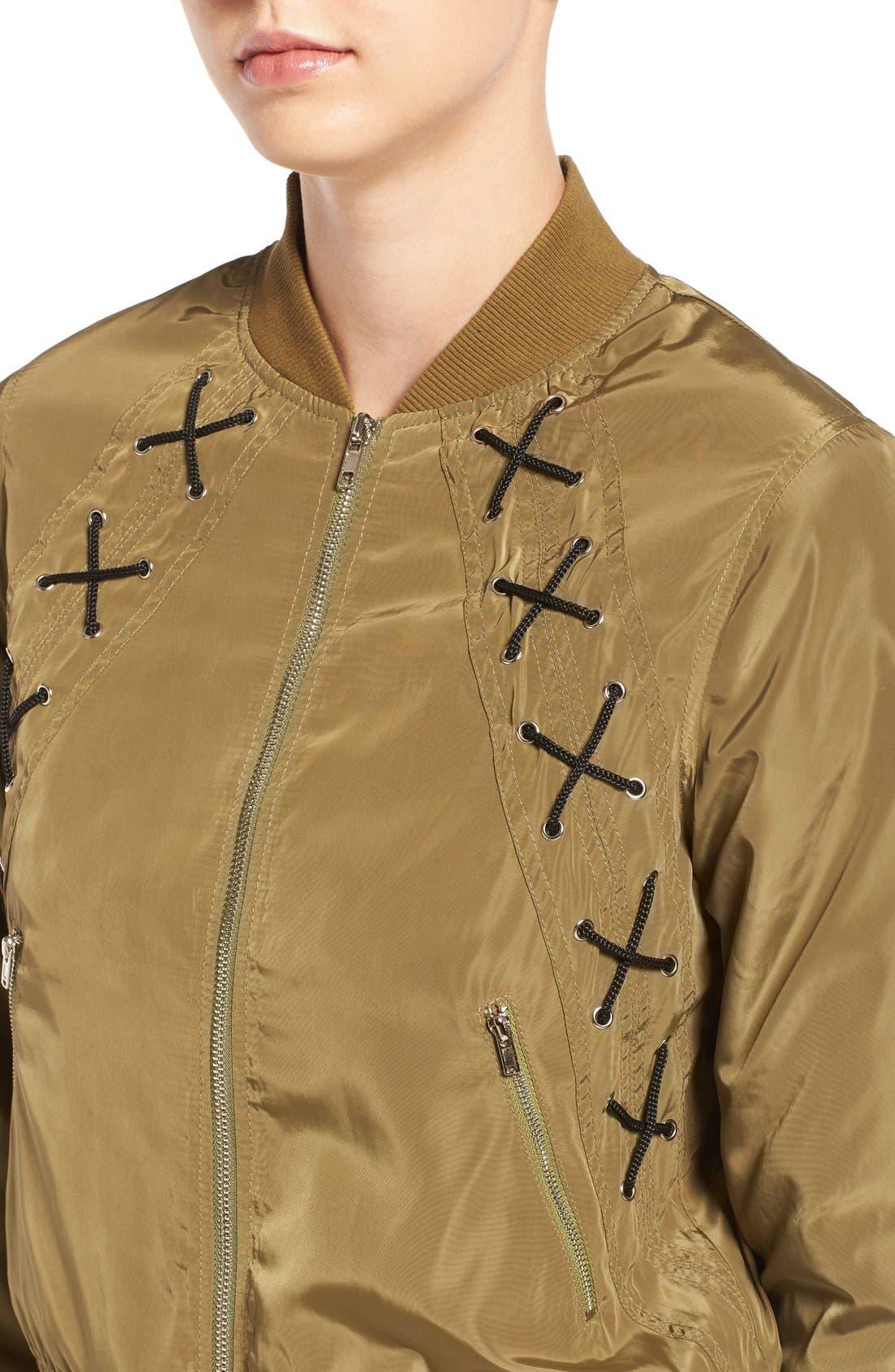 Alternate Image 4  - Elodie Cross Stitch Bomber Jacket