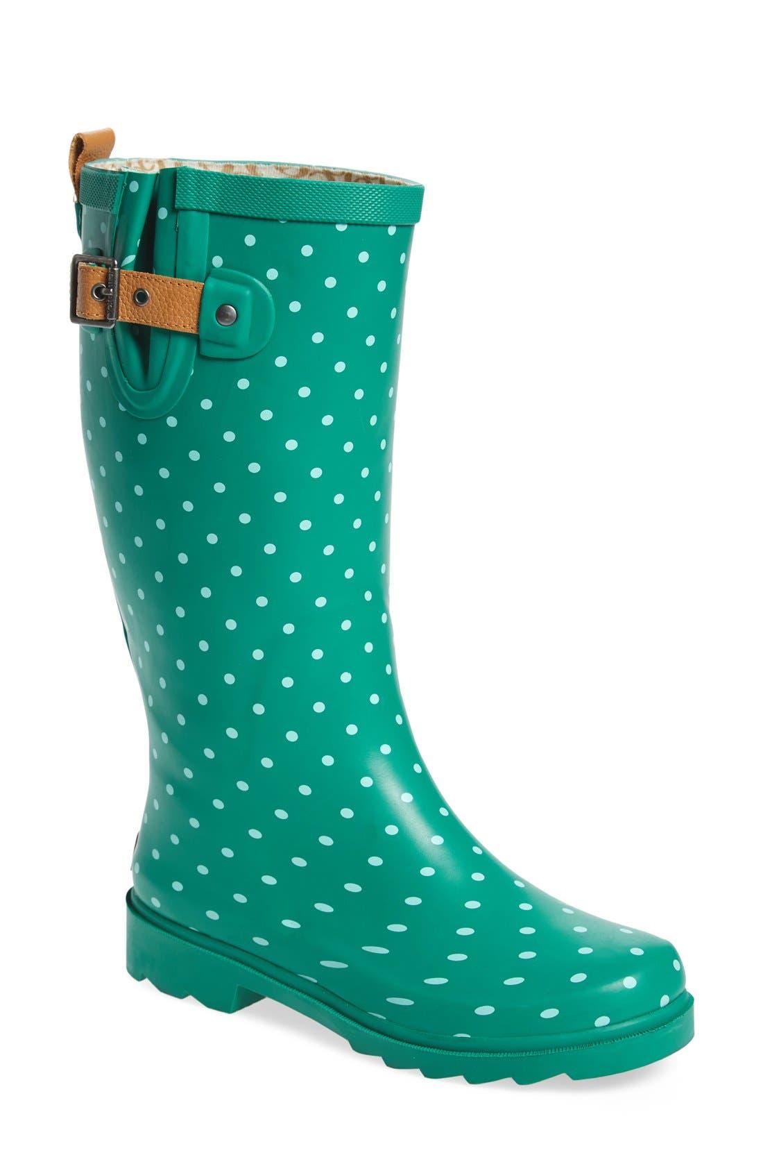 Alternate Image 1 Selected - Chooka 'Classic Dot' Rain Boot (Women)