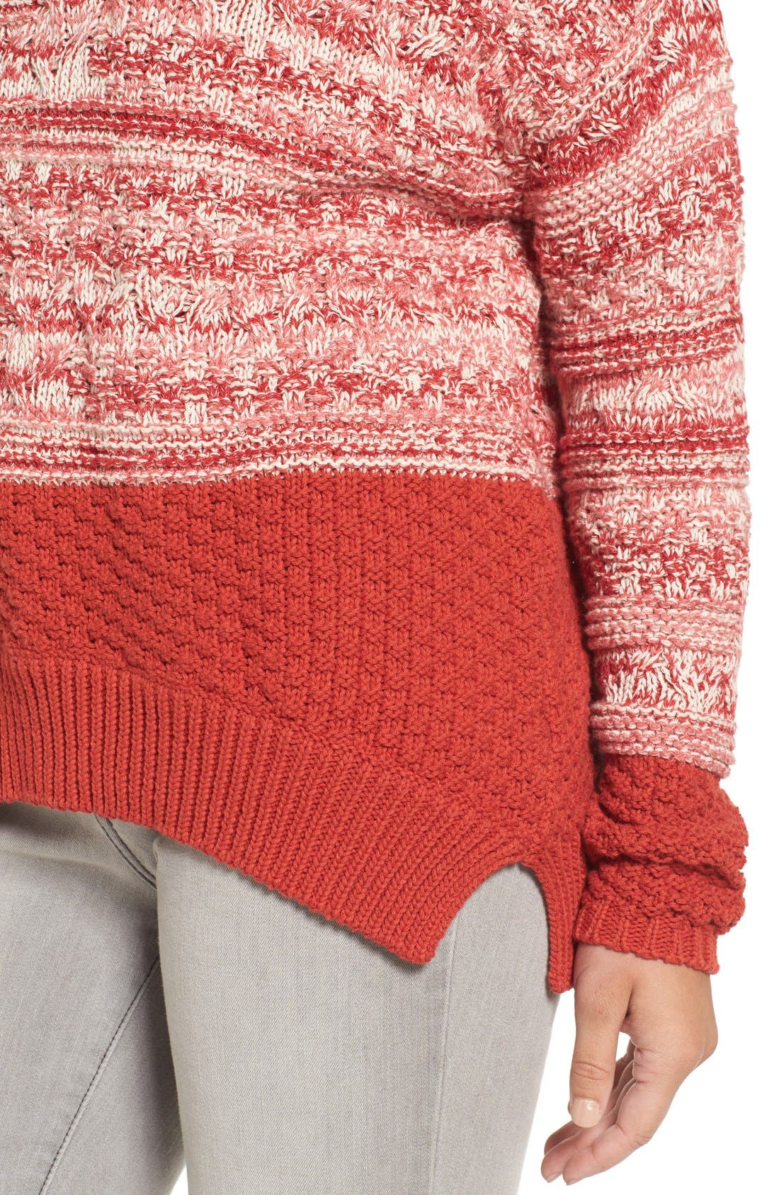Alternate Image 5  - Caslon® Colorblock Marl Knit Sweater