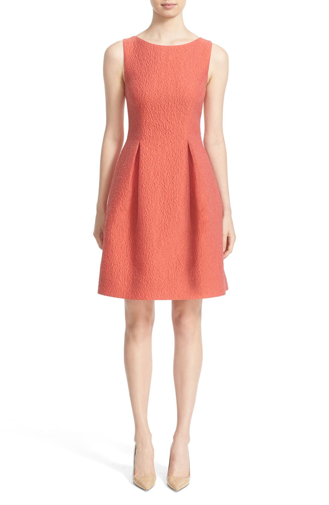 LELA ROSE 'Betsy' Embossed Organza Fit & Flare