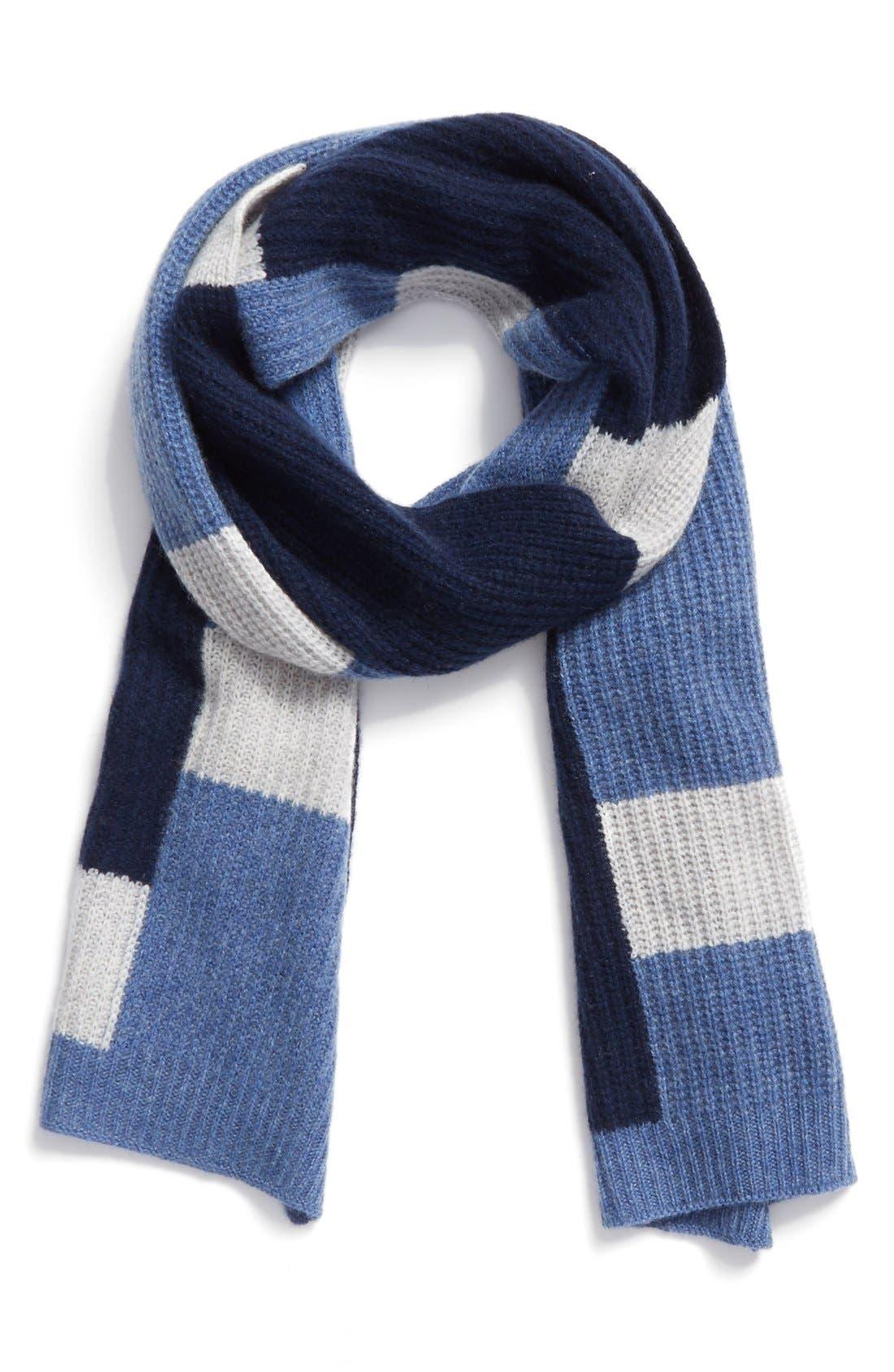 Main Image - Halogen® Colorblock Knit Cashmere Scarf