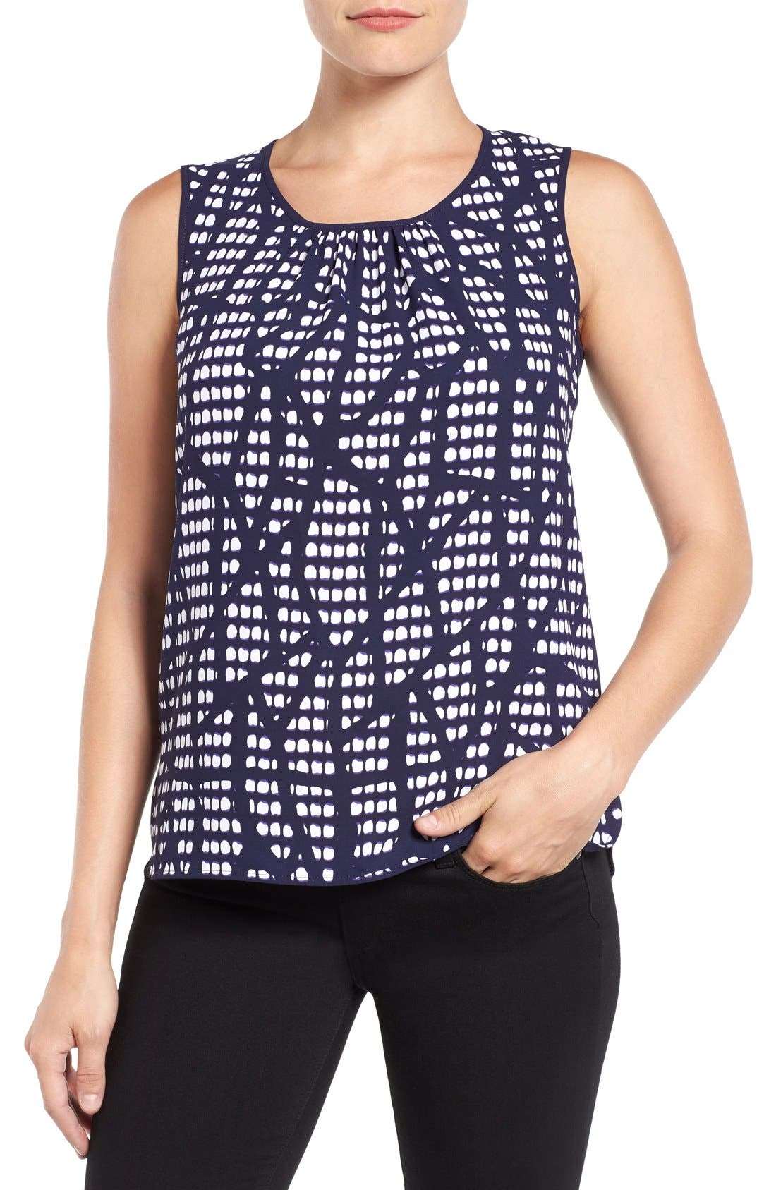 ANNE KLEIN Print Front Shell