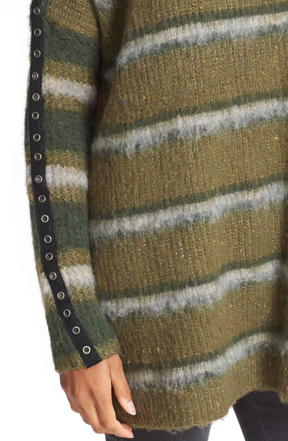 Alternate Image 4  - Free People Stripe Tunic Sweater