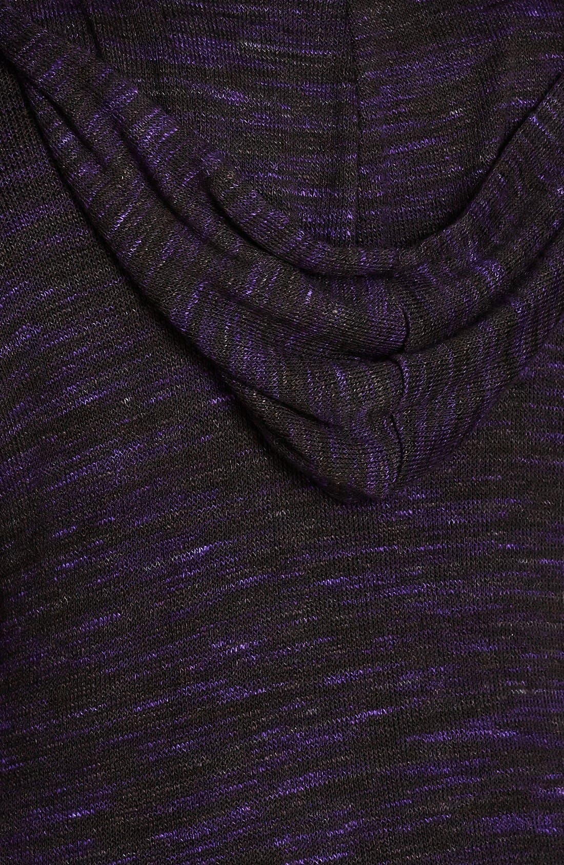 Alternate Image 4  - City Chic Space Dye Hooded Cardigan (Plus Size)