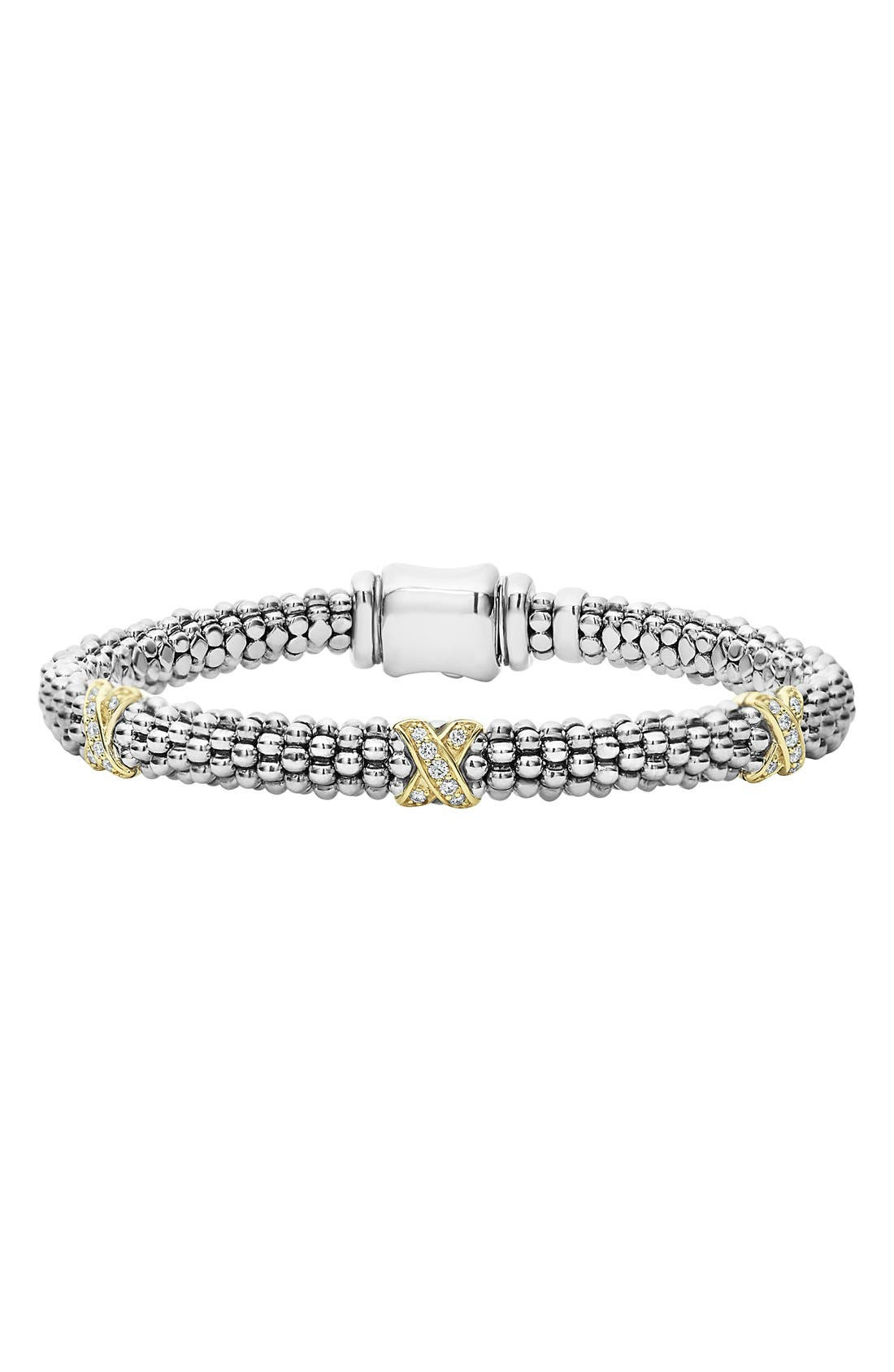 Alternate Image 1 Selected - LAGOS 'Signature Caviar' Diamond Rope Bracelet