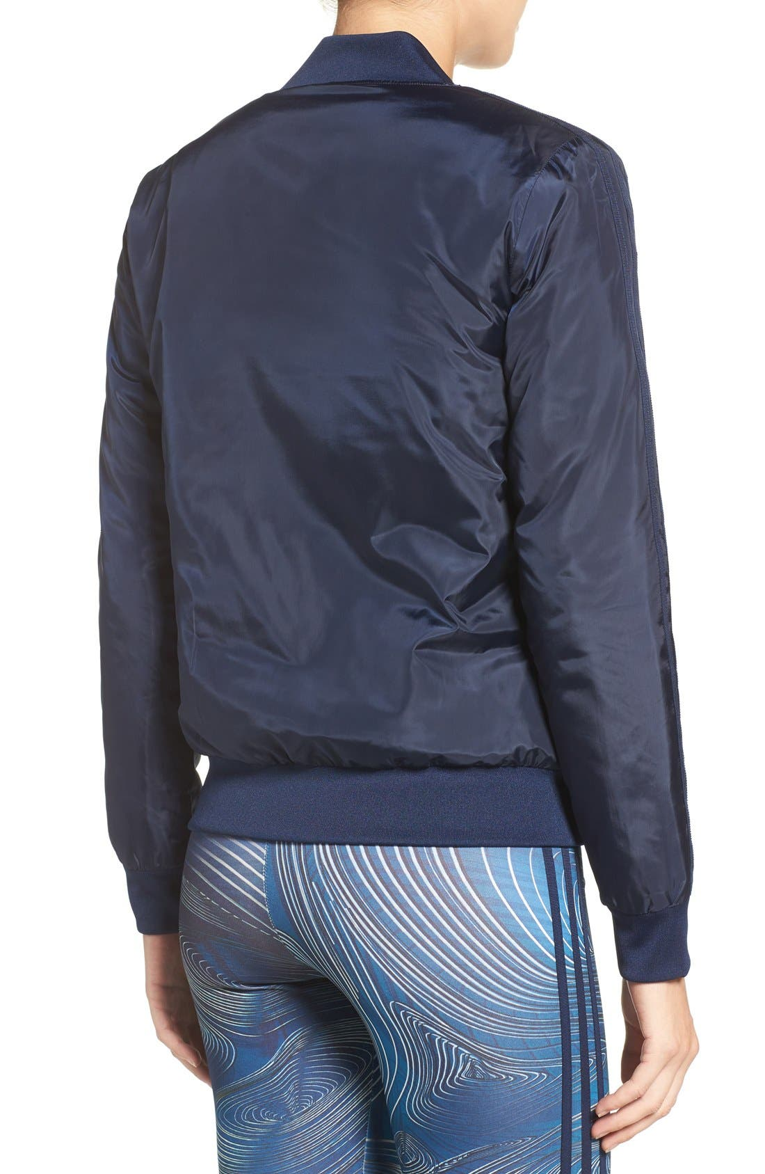 Alternate Image 2  - adidas Originals 'BG' 3-Stripes Bomber Jacket
