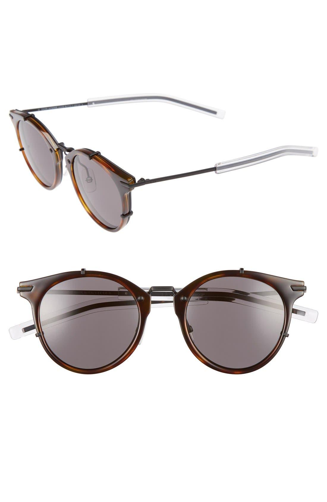 Dior Homme 48mm Round Sunglasses