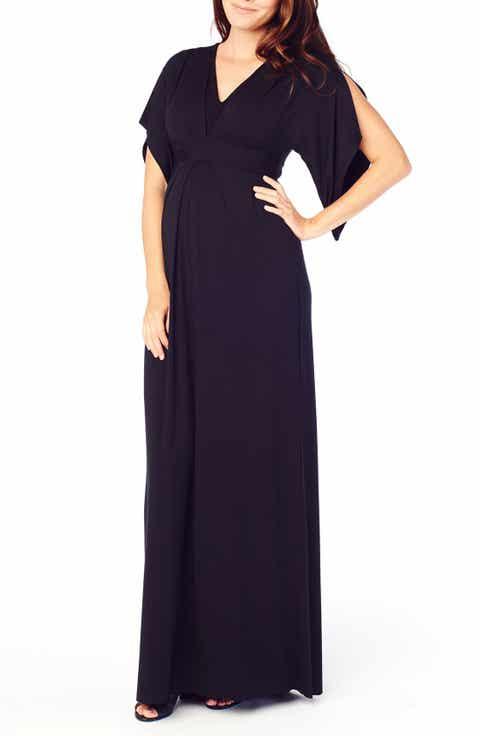 Ingrid   Isabel Split Kimono Sleeve Maternity Maxi Dress