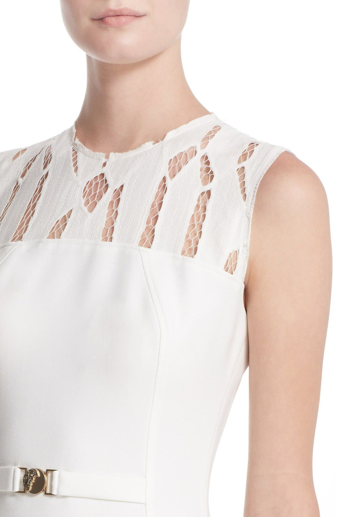 Alternate Image 6  - Versace Cutout Bodice Stretch Cady Sheath Dress