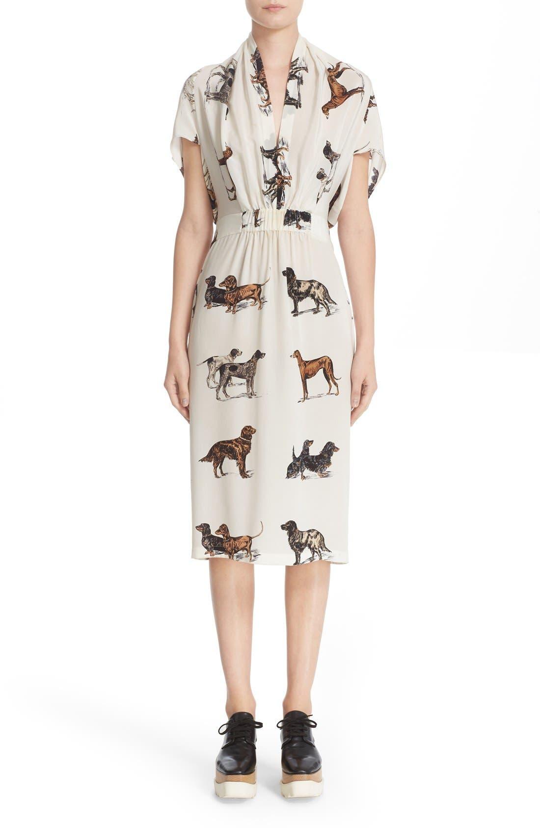 Alternate Image 1 Selected - Stella McCartney Dog Print Silk Dress