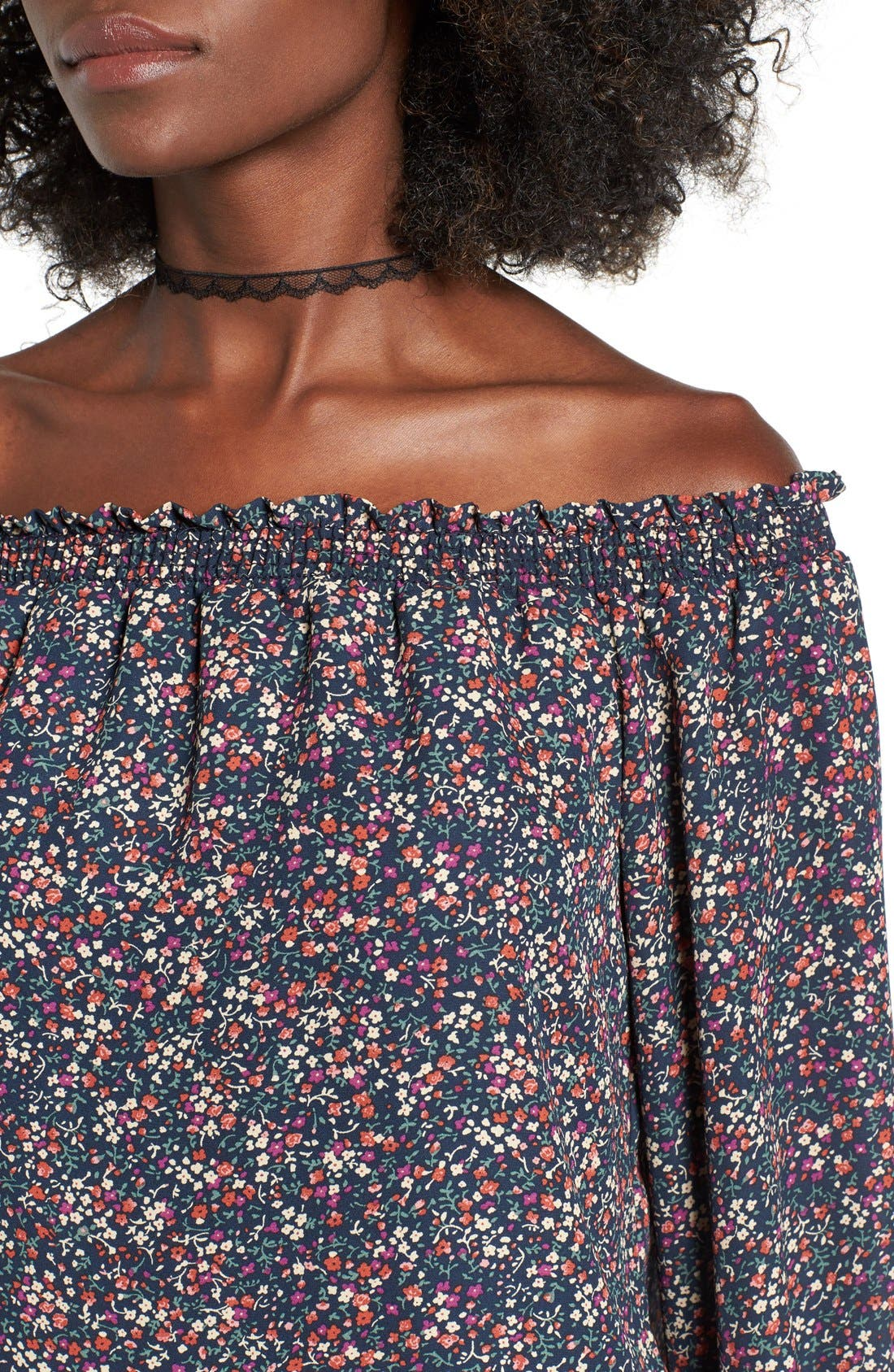 Alternate Image 4  - Wayf Off the Shoulder Blouse