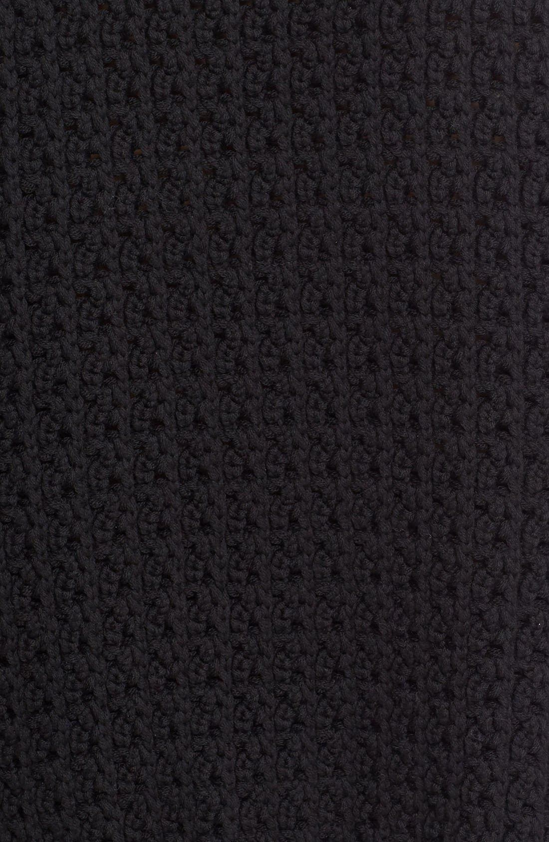 Alternate Image 3  - Simone Rocha Long Chunky Knit Wool Sweater with Fringe