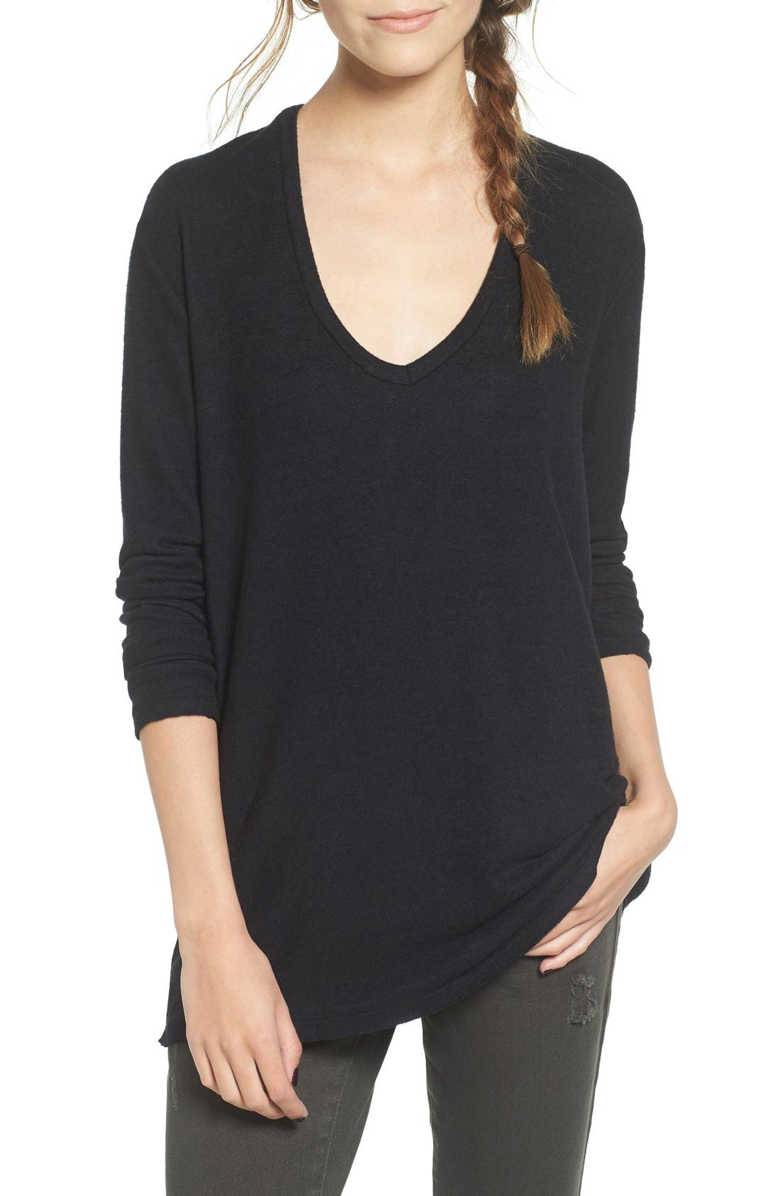 Main Image - BP. V-Neck Long Sleeve Sweater