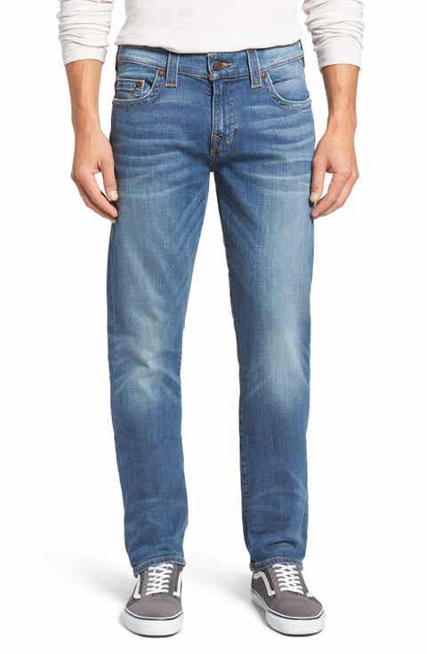 True Religion Brand Jeans Geno Straight Leg Jeans (CVIM Flagstone) (Regular   Big)