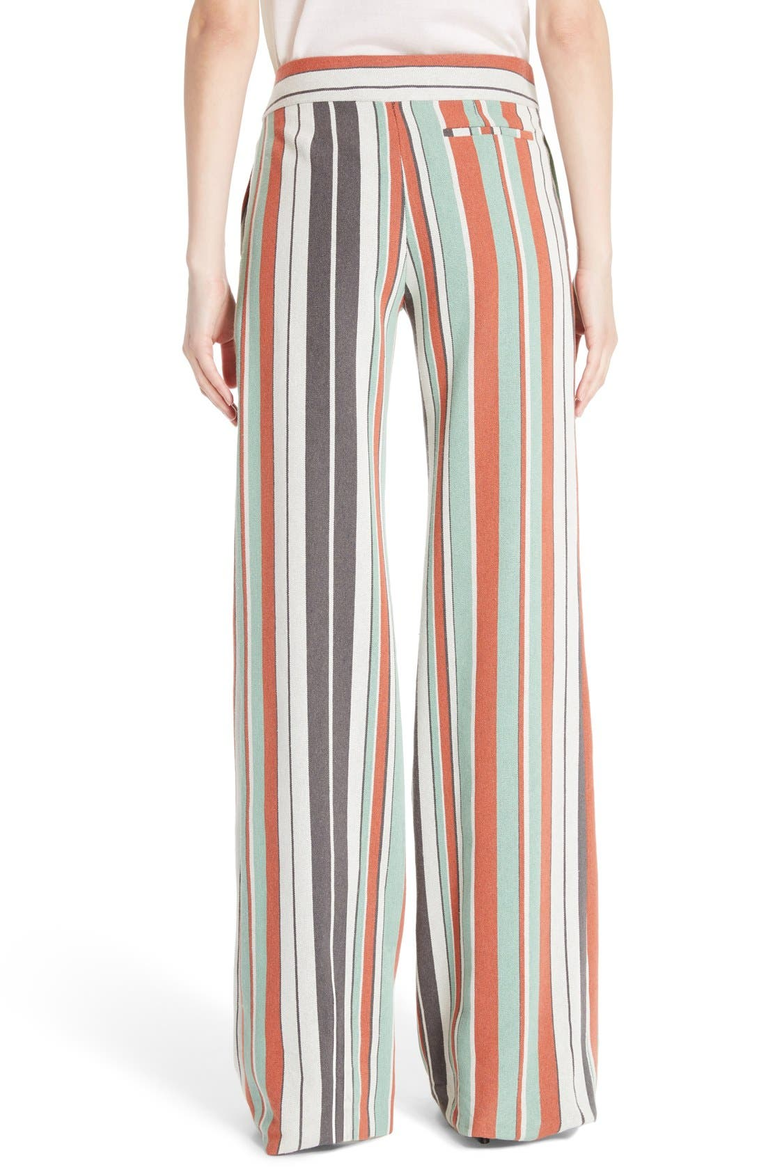 Alternate Image 2  - Chloé Mixed Stripe Wide Leg Pants