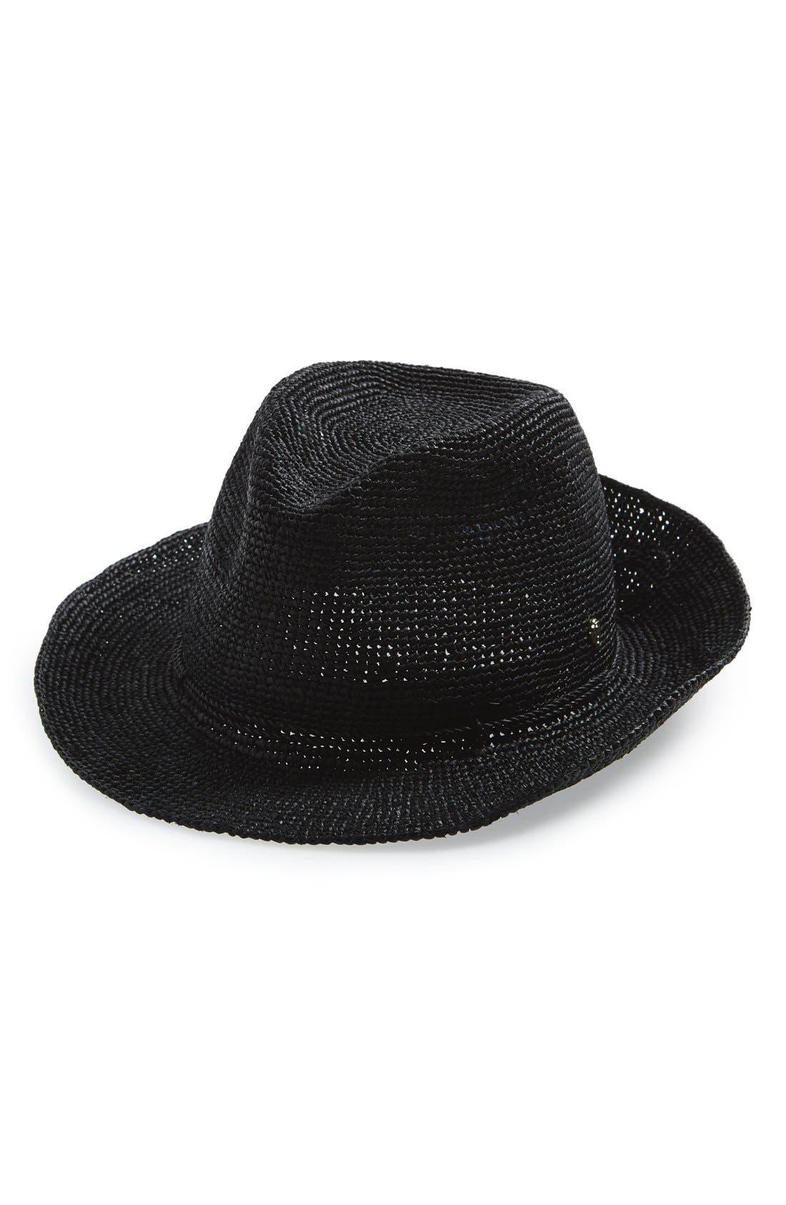 Alternate Image 1 Selected - Helen Kaminski Raffia Crochet Packable Sun Hat
