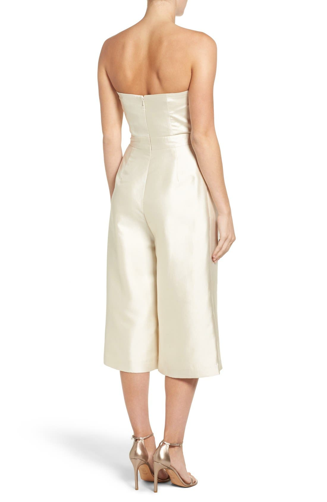 Alternate Image 2  - Paper Crown Milan Strapless Culotte Jumpsuit