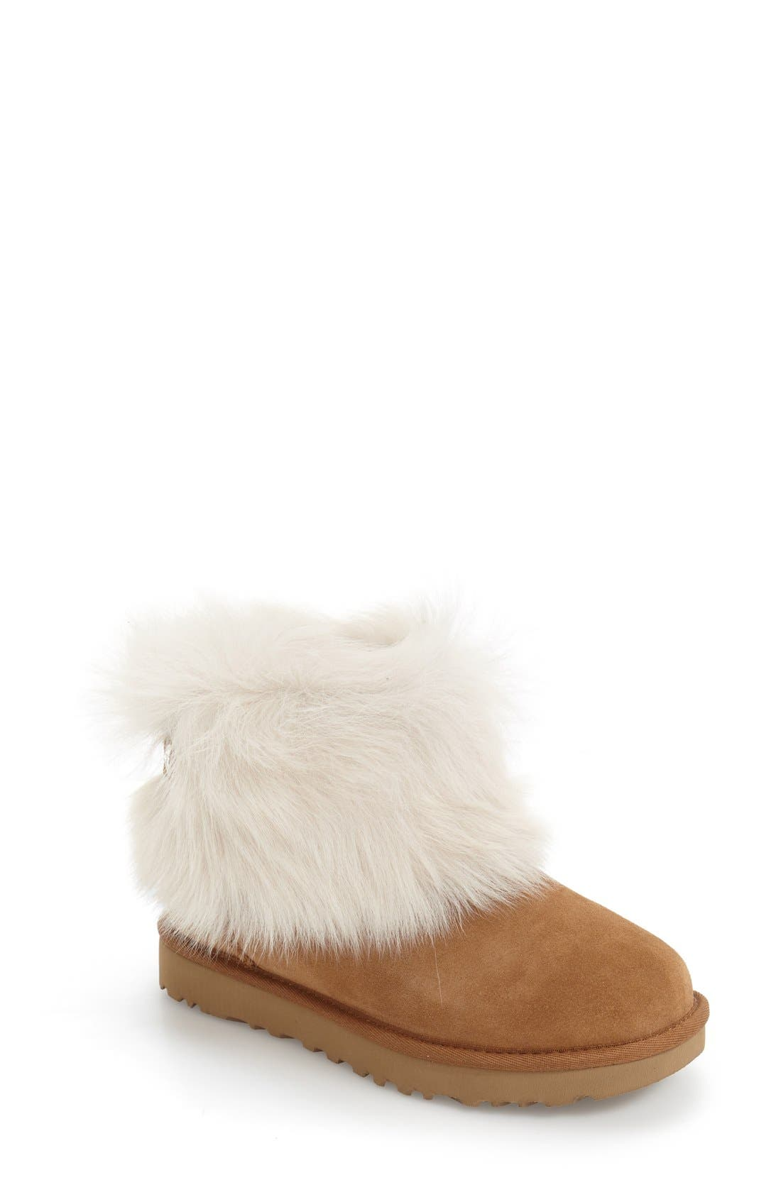 Alternate Image 1 Selected - UGG® 'Valentina' Genuine Shearling Cuff Boot (Women)