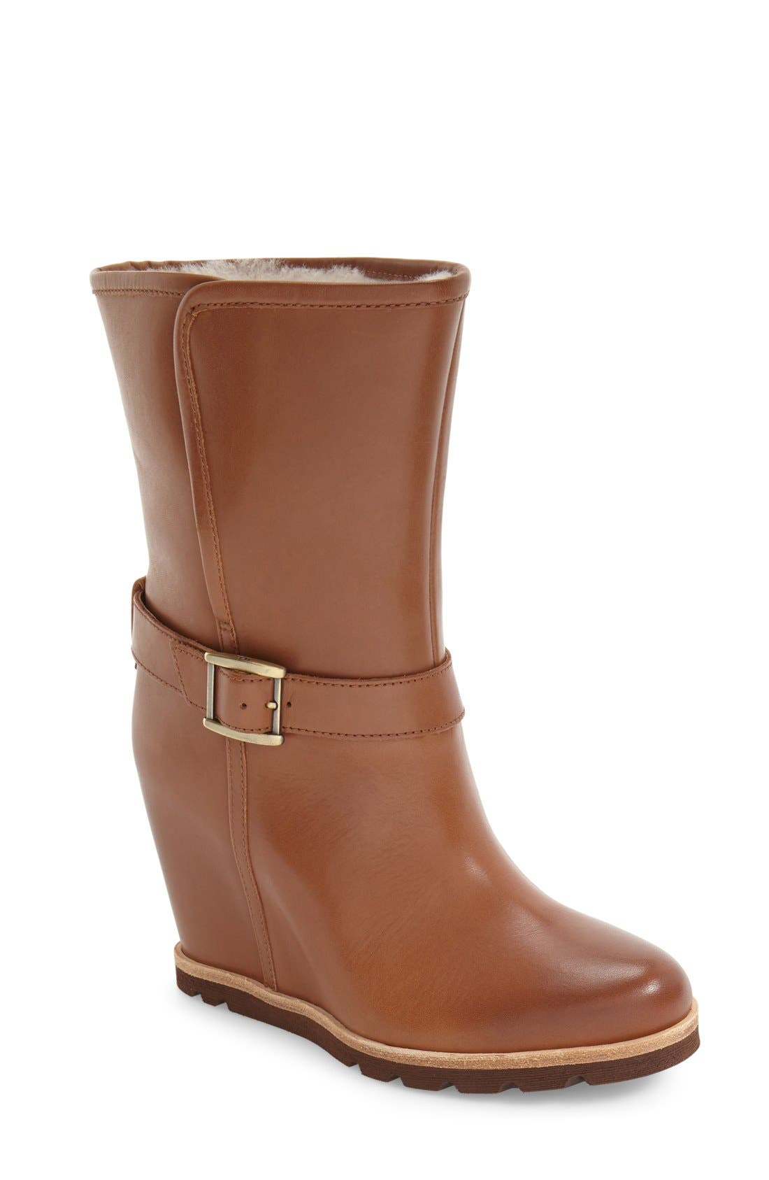 Alternate Image 1 Selected - UGG® 'Ellecia' Wedge Boot (Women)