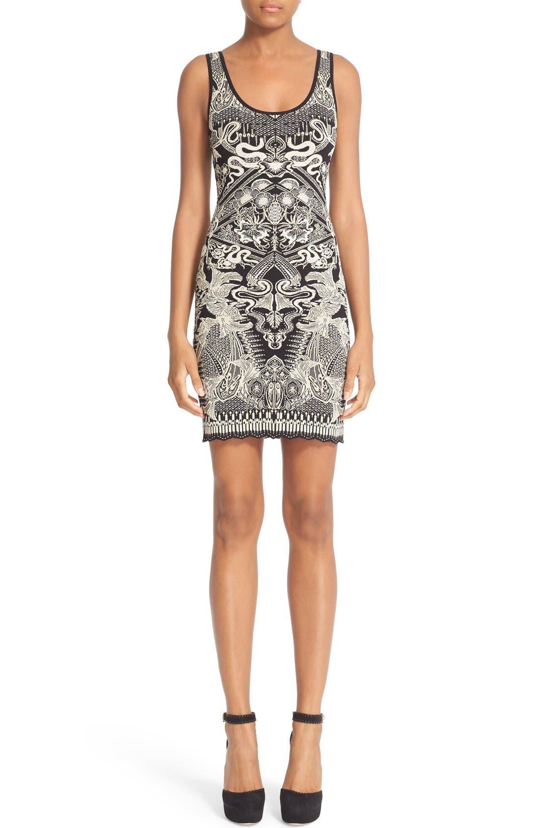Alternate Image 1 Selected - Roberto Cavalli Jacquard Knit Dress