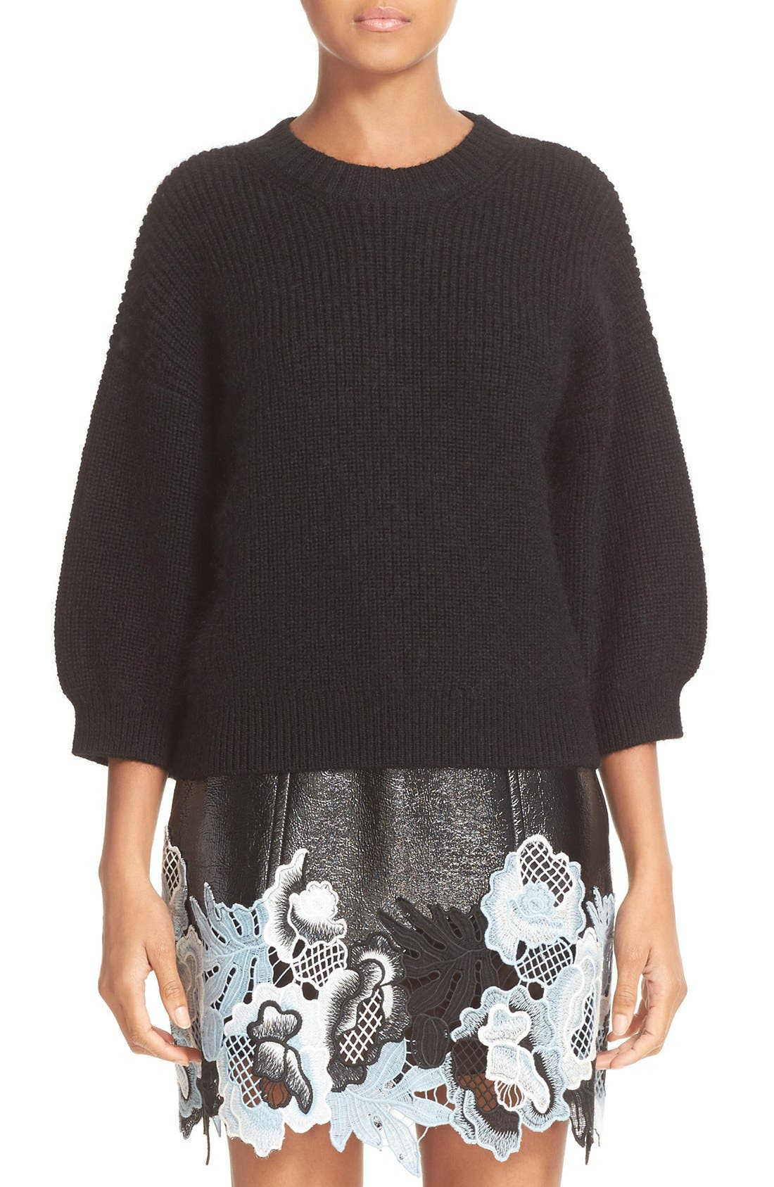 Alternate Image 1 Selected - 3.1 Phillip Lim Rib Knit Wool Blend Sweater