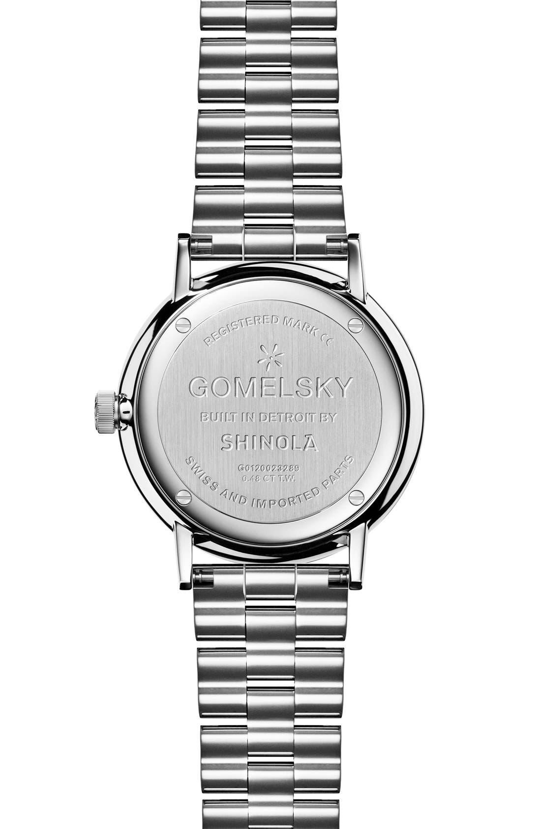 Alternate Image 2  - Gomelsky The Agnes Varis Diamond Bracelet Watch, 32mm
