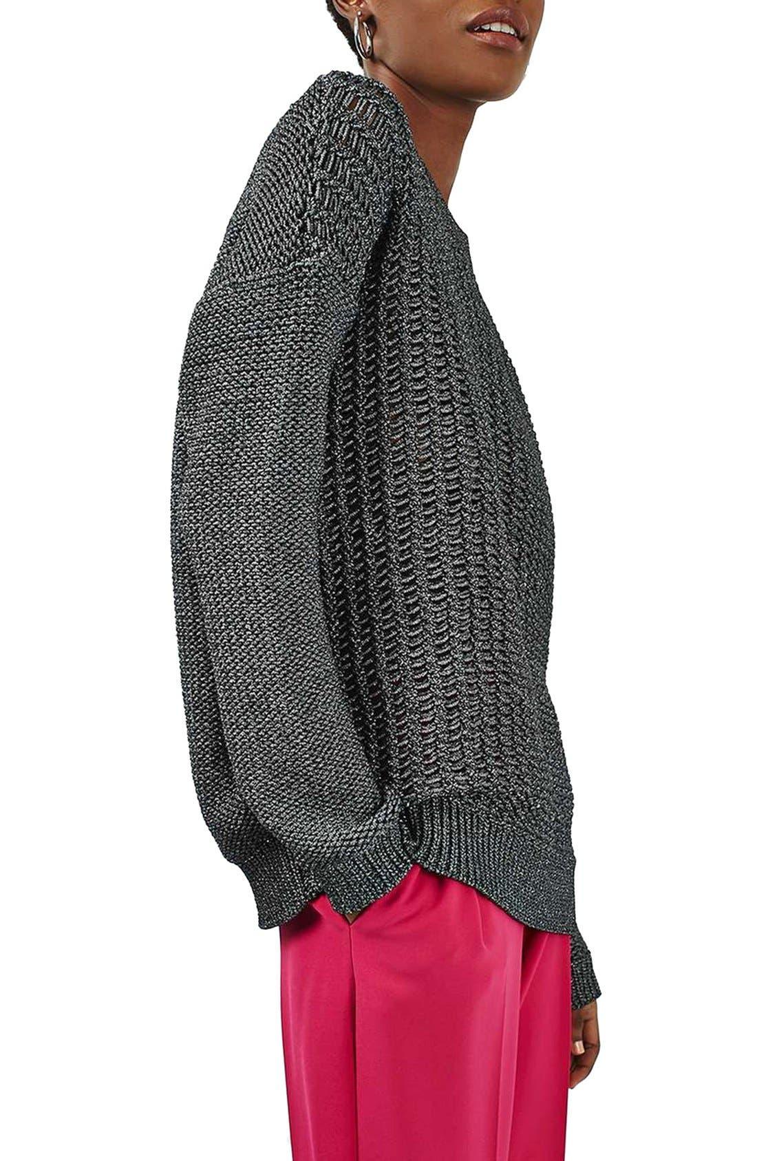 Alternate Image 4  - Topshop Metallic Sweater