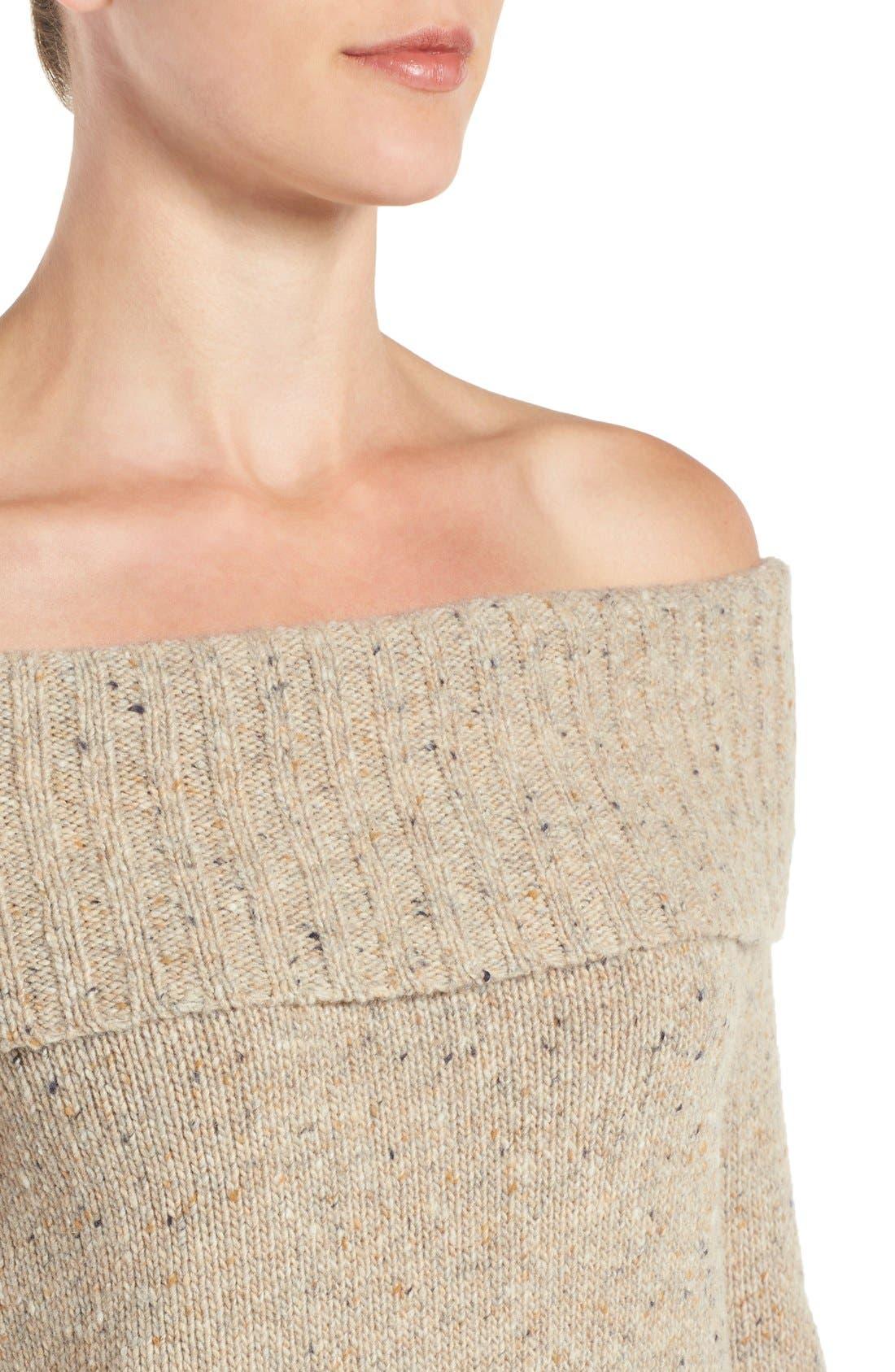 Alternate Image 4  - Rebecca Minkoff Erid Off the Shoulder Sweater Dress