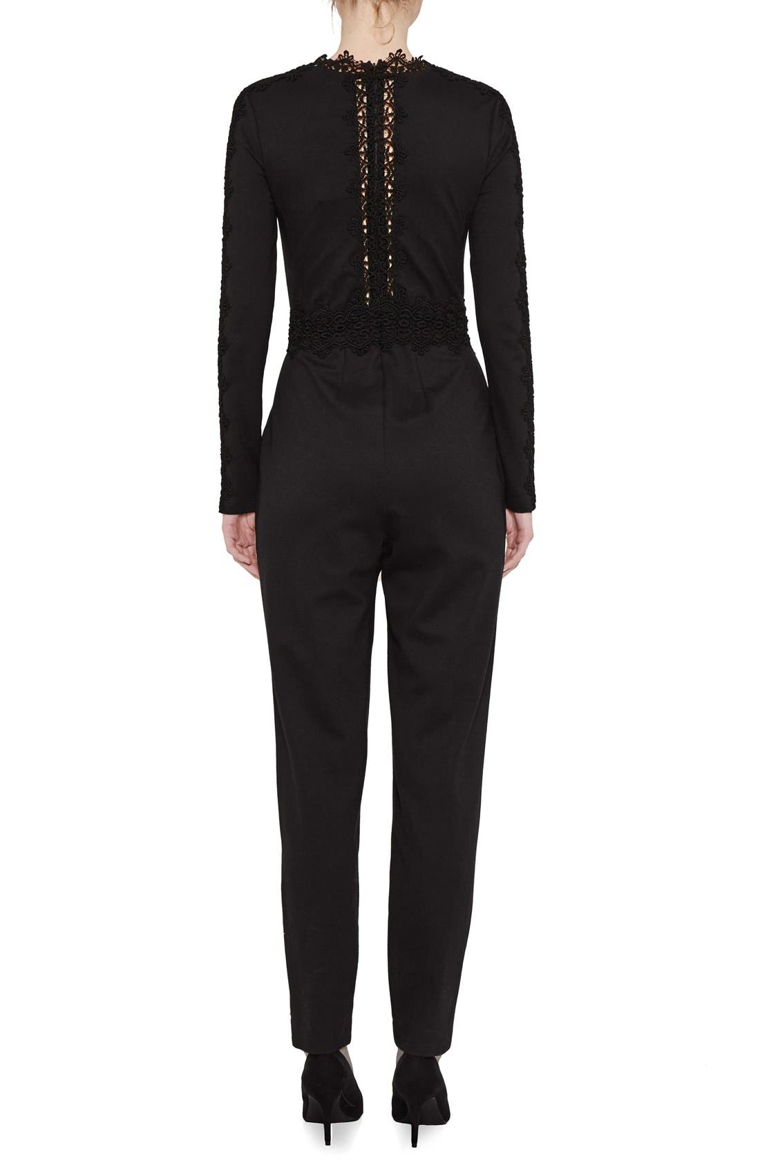 Alternate Image 2  - French Connection Petra Lace Inset Jumpsuit