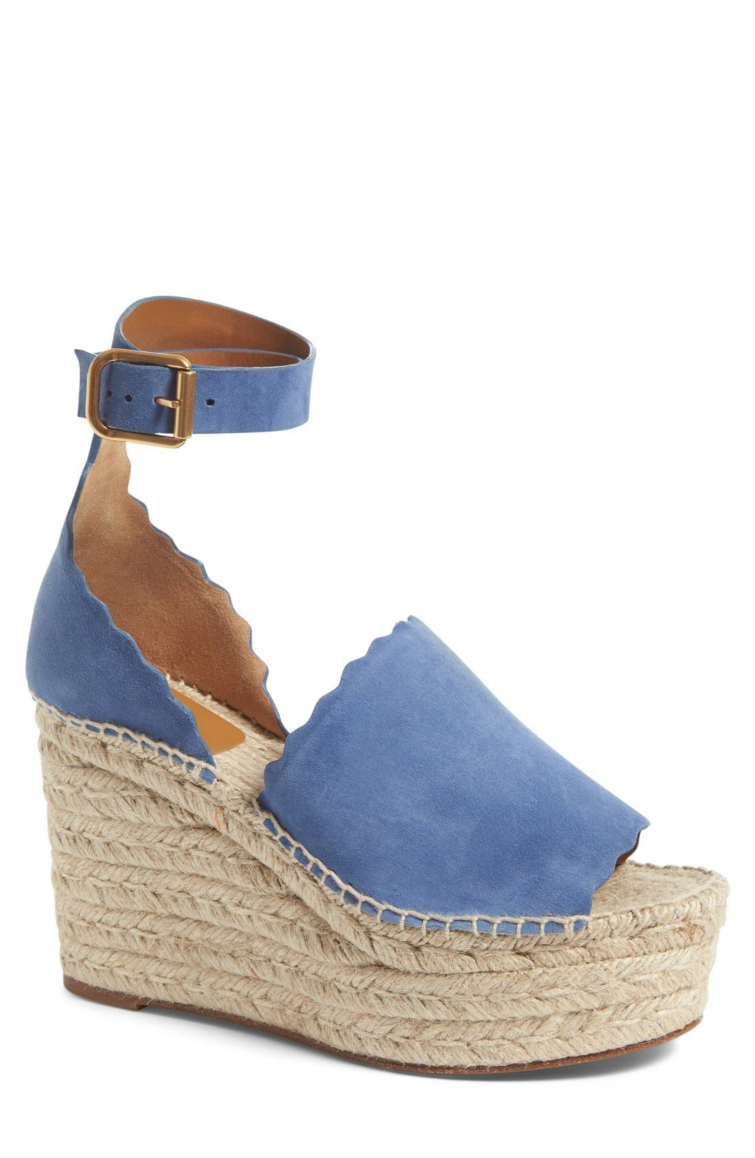 Chloé Lauren Espadrille Wedge Sandal (Women)