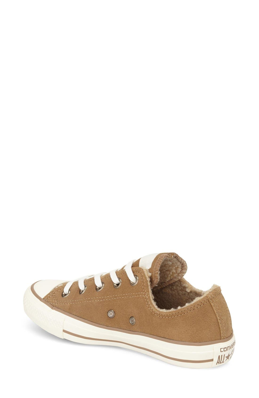 Alternate Image 2  - Converse Chuck Taylor® All Star® Faux Shearling Lined Low Top Sneaker (Women)