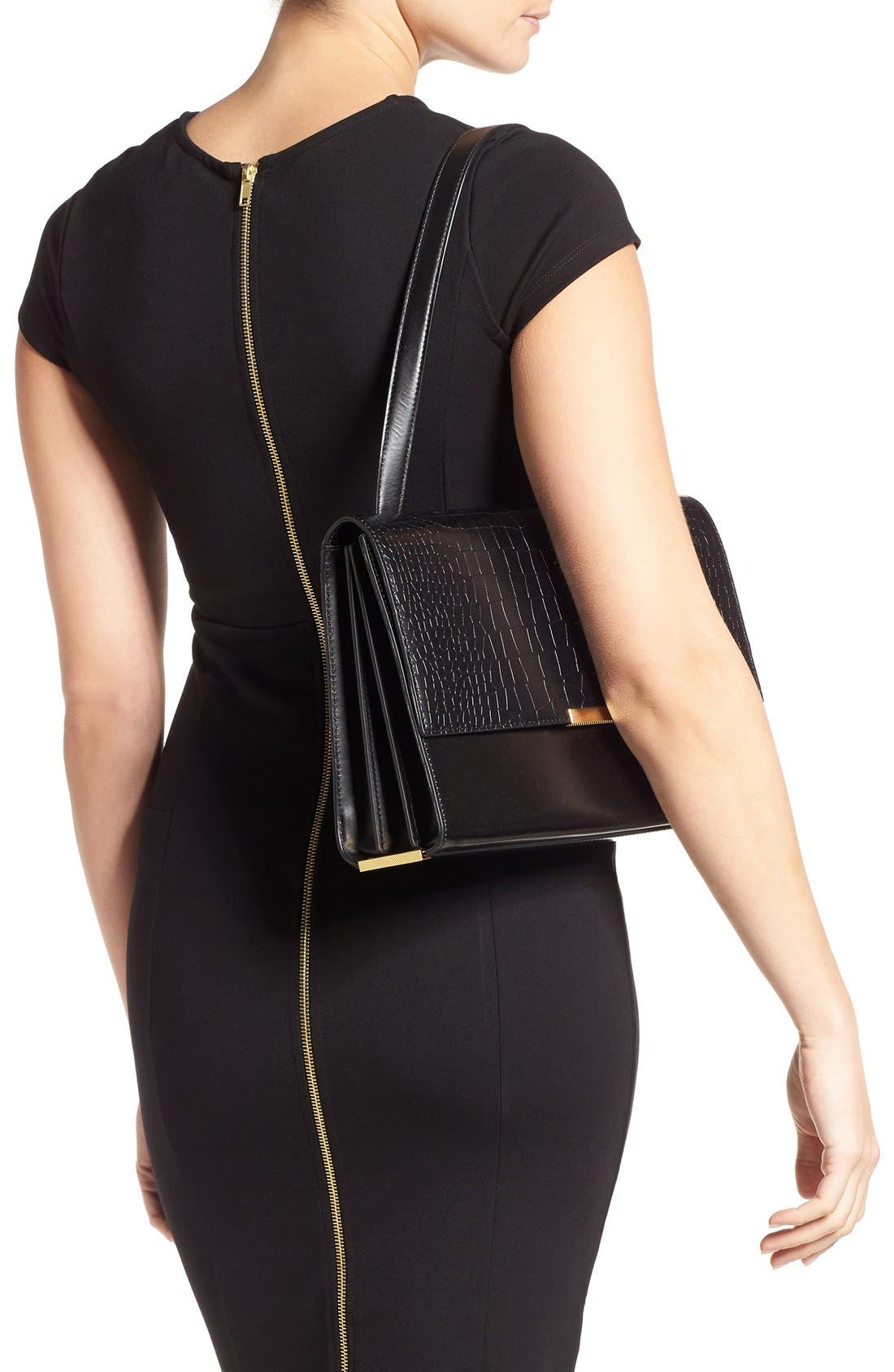 Alternate Image 2  - Ted Baker London 'Lowri' Croc Embossed Leather Shoulder Bag