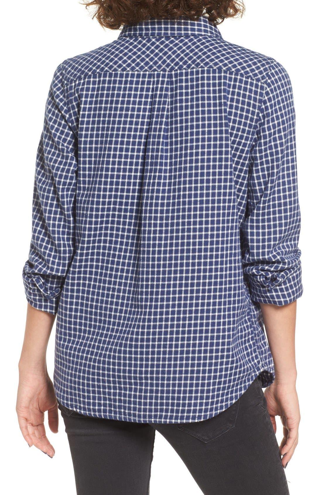 Alternate Image 2  - Roxy Squary Cool Plaid Flannel Shirt