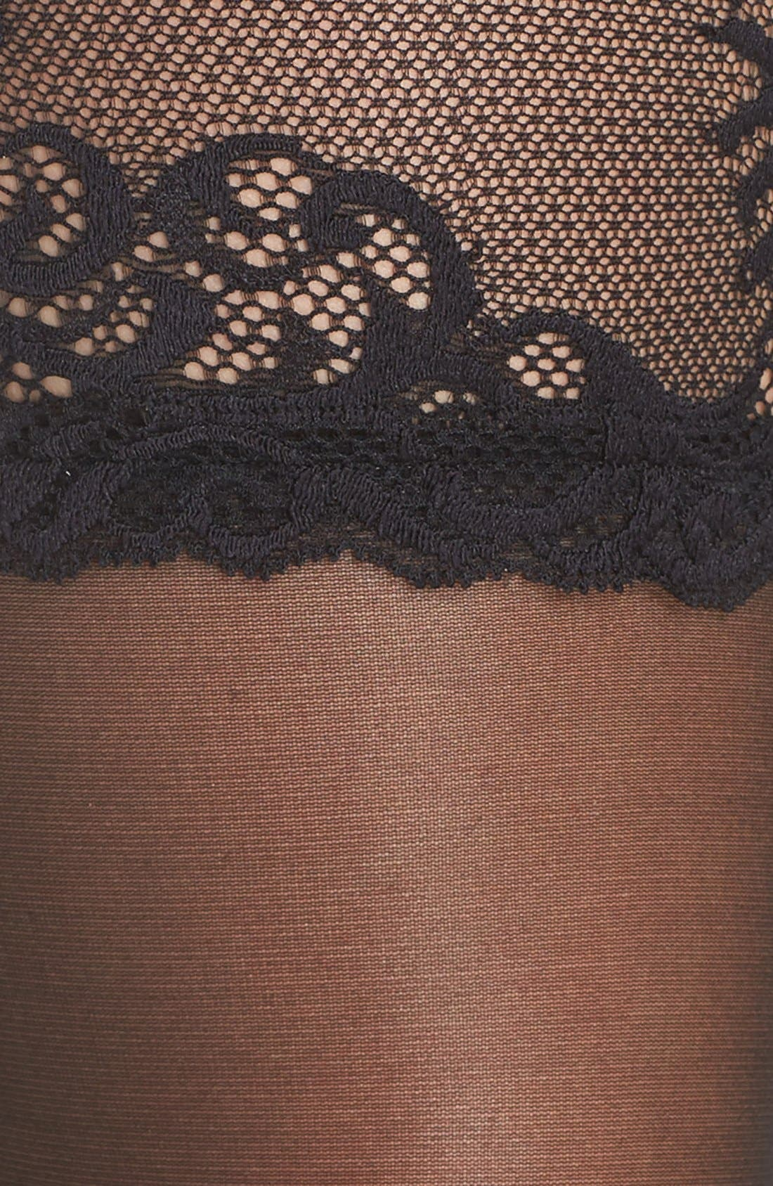 Alternate Image 3  - Natori Feathers Escape Stay-Up Stockings