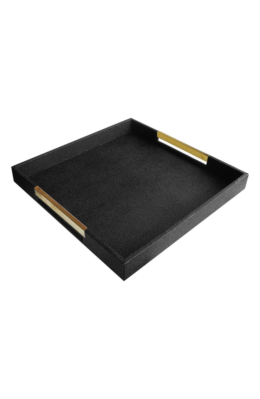 AMERICAN ATELIER Goldtone Handle Decorative Tray