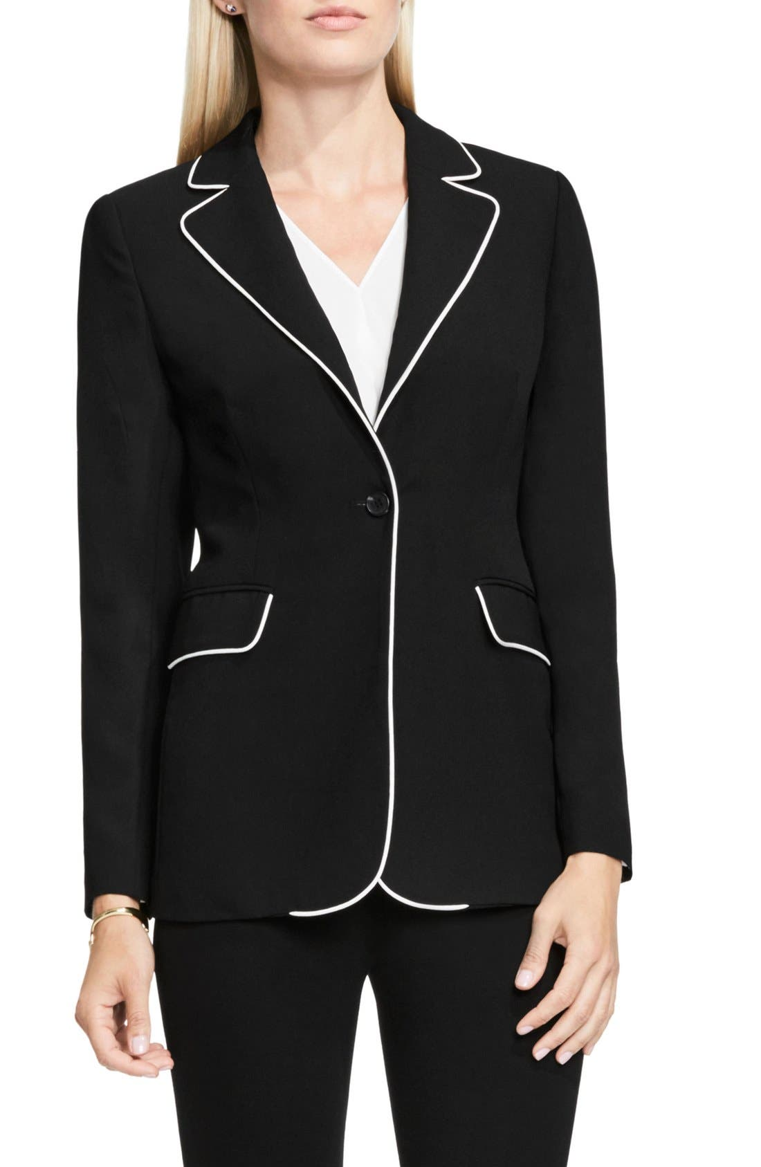 Alternate Image 1 Selected - Vince Camuto Contrast Piping Blazer