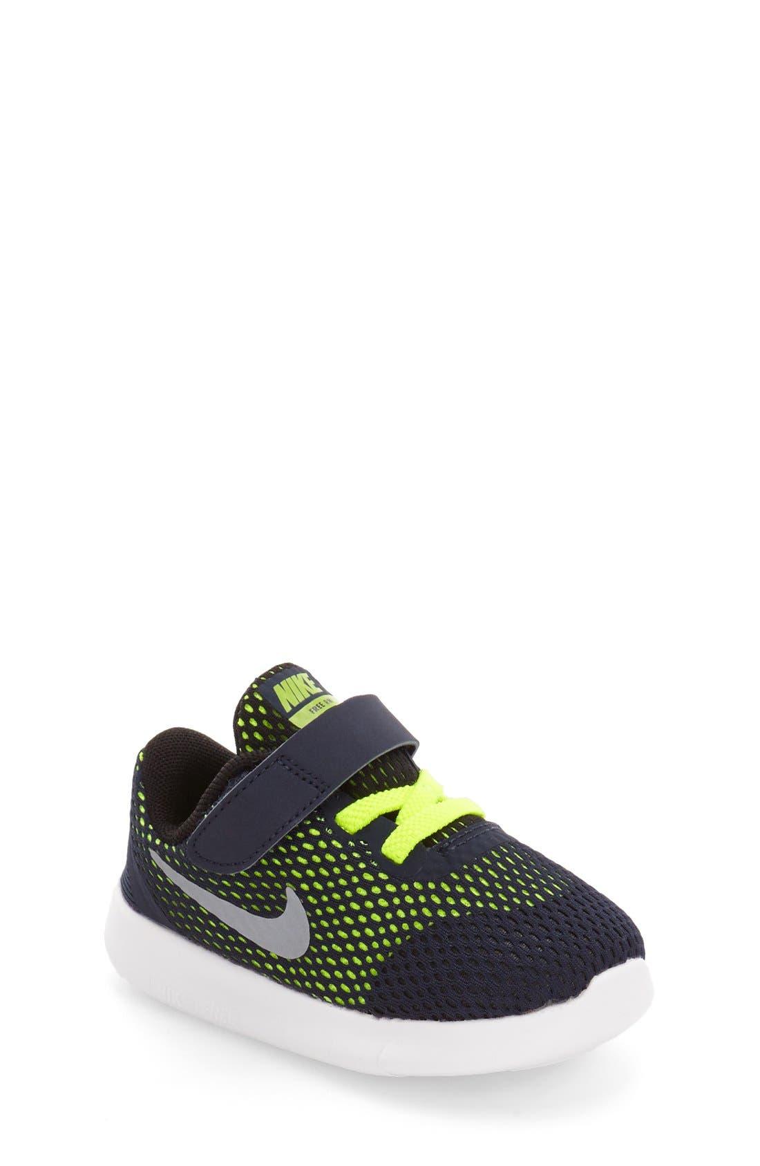 Alternate Image 1 Selected - Nike Free RN Sneaker (Baby, Walker & Toddler)